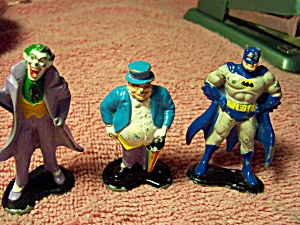 Ertl Batman Figures 1990 Set 3 Die Cast Metal