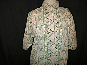 Live It Up Blouse Size XL Indian Print Abstract (Image1)