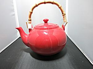 Pottery Barn Teapot Sausalito Two Tone Used (Image1)