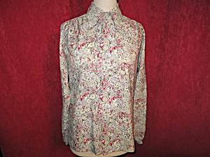 Alice Stuart Floral Blouse w Tie Tagged 14 but small (Image1)