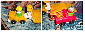 Fisher Price Tow Truck Flat Bed Truck People (Image1)
