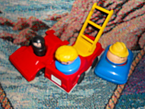 Fisher Price Fire Truck Race Car Car 1983 (Image1)