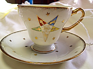 Eastern Star Cup and Saucer Set Norcrest (Image1)