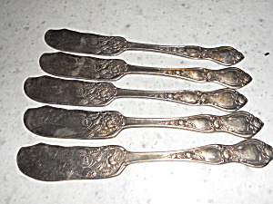 Butter Knives Set Of 6 R C Co Silver Plate