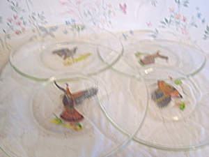 Ned Smith Glass Game Bird Plates Set of 4 (Image1)