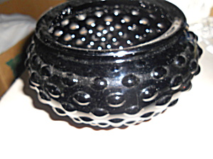 LE Smith Amethyst Hobnail Glass Vase Bowl (Image1)