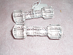Antique Pressed Glass Knife Rest Pair (Image1)
