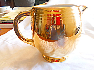 Hall Golden Glo 5 Band Jug Pitcher