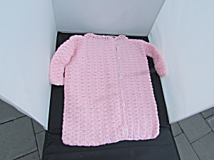 Pink Hand Crochet Baby Bunting 0-6 months (Image1)