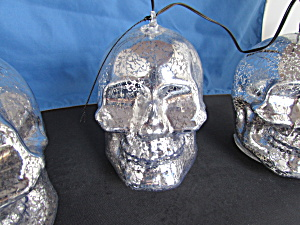 Silver Mercury Gold Metallic Skull Lights