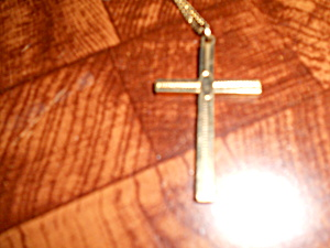 Cross Necklace with Chain Gold Tone (Image1)