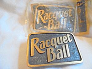 Vintage Racquet Ball Brass Belt Buckle Pair (Image1)