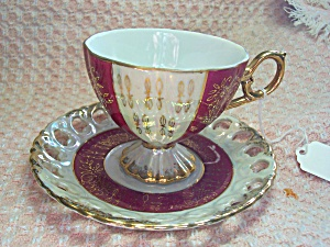 Cup and Saucer Made in Japan Lusterware  (Image1)