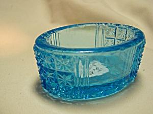 Blue Depression Glass Salt Cellar (Image1)