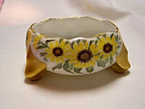 Porcelain Salt Cellar Black Eyed Susan Footed (Image1)