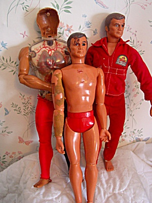Six Million Dollar Man Doll Pair Plus Pulsar
