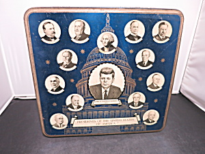 Presidents Of The United States Of America Tin 1960s