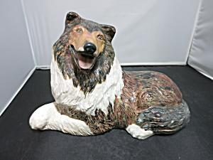 Vintage Ceramic Lassie Collie Dog Figurine 60s 70s (Image1)