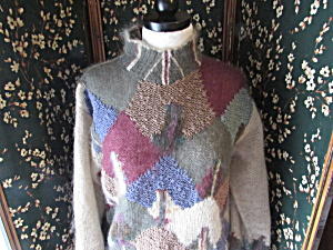 Lauren Hansen Hand Knitted Sweater Size Medium M