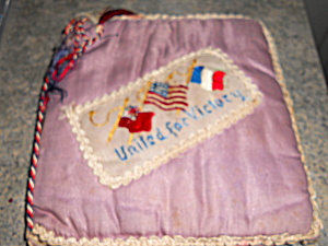 WWII Memory Silk Cover Book Hand Made (Image1)