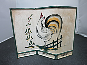 Art Deco Wall Pocket With Rooster Htf