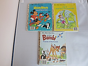 A Little Golden Books Set Of Three Mickey Jack Bambi