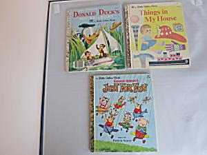 A Little Golden Books set of three Donald Duck plus 2 (Image1)