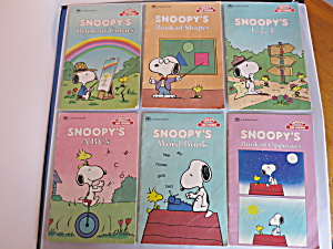 a Golden Book Snoopy and Friends Educational lot of 6  (Image1)