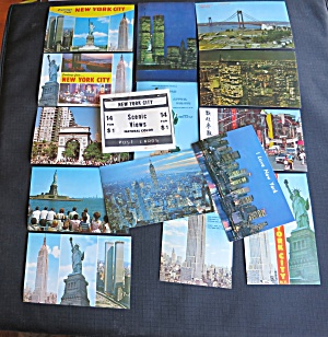 New York City Post Card Set Of 14 Nester's Map & Guide