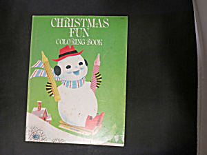 Vintage Christmas Fun Coloring Book 1976