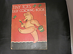 Tiny Tots Easy Coloring Book Eileen Fox 1932