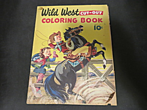 Wild West Cut-out Coloring Book 502 Vintage