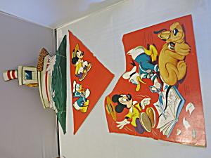 Walt Disney Cut Outs Mickey Pluto Donald Duck 1953 (Image1)