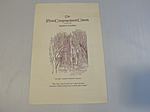 The First Congregational Church 1941 Bulletin  (Image1)