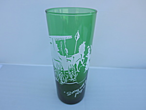 Anchor Hocking Forest Green glass tumbler with Surrey (Image1)