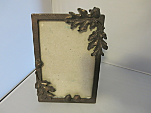 Vintage Acorn Copper Bronzed Picture Frame Holds 6 X 4 Picture