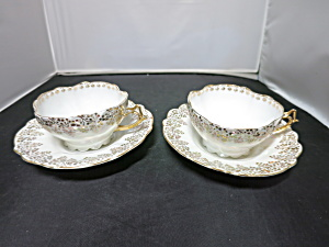 Rudolstadt Germany Cup And Saucer Lustreware Set Of Two