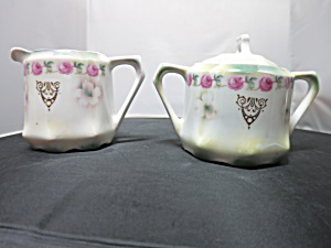 Antique Creamer And Sugar Bowl Set Marked Germany W