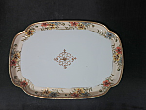 Antique Nippon Vanity Tray Hand Painted Floral