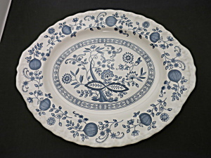 Blue Heritage Platter 12 1/4 Inch Blue Onion Made In England