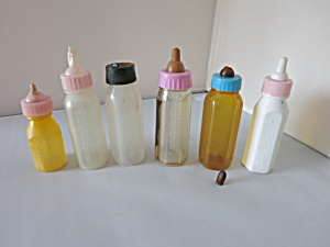 Doll Bottle Replacements lot of 6 doll bottles (Image1)
