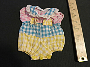Vintage Doll Romper checkered with eyelet trim BSB (Image1)