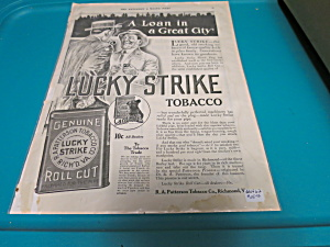 Lucky Strike Tobacco Advertising sheet (Image1)