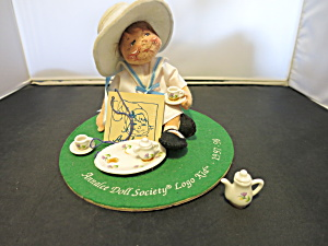 Annalee Doll Society Logo Kid 1997-98 Called Tea Time