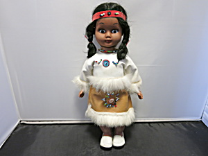 Indian Maiden Doll 11 Inch Rubber Hard Plastic