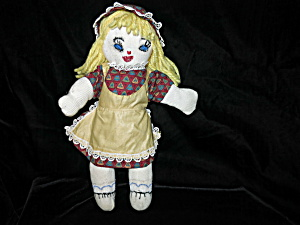 Vintage Cloth Doll 13 inch Handcrafted (Image1)