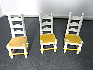 Littles Family Doll House Kitchen Chairs Set Of 3