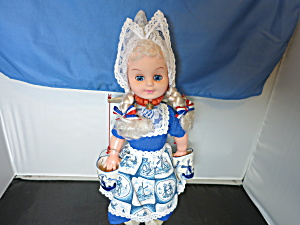 Vintage Delft Holland Doll With Yoke And Buckets 1970s