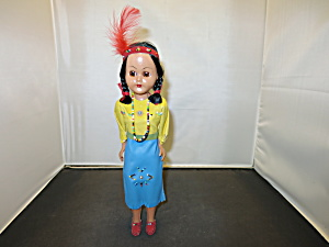 Native American Girl Doll Hard Plastic Sleep Eye
