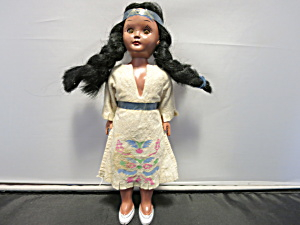 Indian Maiden Doll Original Hard Plastic 7 Inch 1960